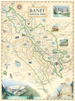 Banff National Park Wall Map