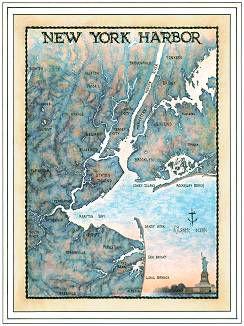 New York Harbor Art Print & Poster