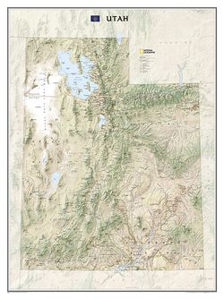 Utah State Wall Map by National Geographic