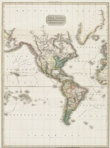 Antique Map of the Americas 1818