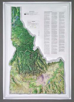 Idaho Raised Relief Map