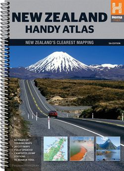 New Zealand Handy Atlas Spiralbound by Hema