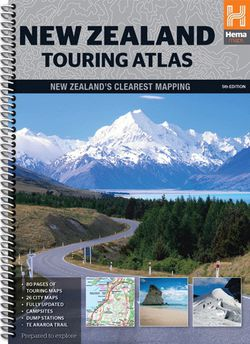 New Zealand Touring Atlas Spiralbound by Hema