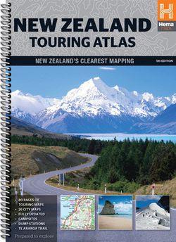New Zealand Touring Atlas Spiralbound by Hema