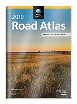 2019 Road Atlas USA with Cover by Rand McNally