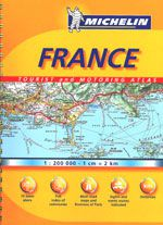 France Atlas Spiralbound by Michelin