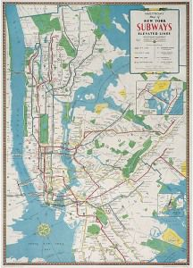 Map Of New York Subways Nyc Subway Wall Map