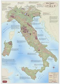 Italy Wine Region Map
