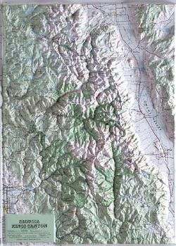 Sequoia- Kings Canyon Raised Relief Map