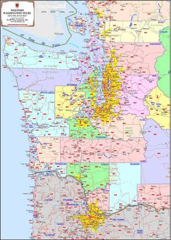 Western Washington Zip Code Map By Kroll Map Company