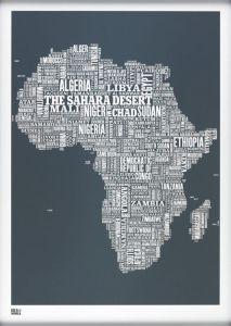 Africa Type Map - Slate