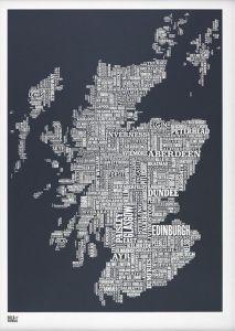 Scotland Type Map - Slate