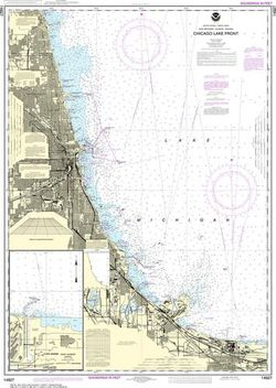 Nautical Chart 14927 (Lake Michigan) Chicago Lake Front