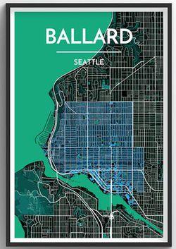 Seattle Neighborhood Map - Ballard