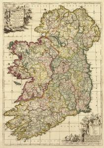 Antique Map of Ireland 1700's #2