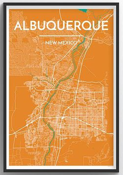 Albuquerque Map Print by Point Two