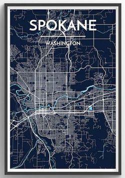 Spokane Map Print by Point Two