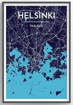 Helsinki Map Print by Point Two