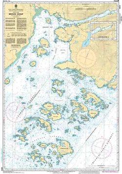 Canadian Nautical Chart 3670 - Broken Group