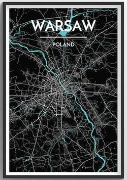 Warsaw Map Print by Point Two