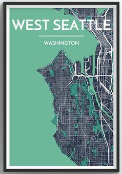 Seattle Neighborhood Map - West Seattle