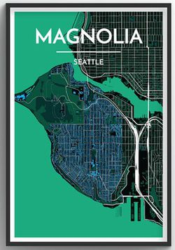 Seattle Neighborhood Map - Magnolia