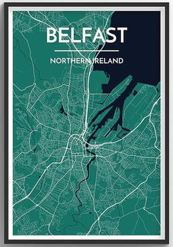 Belfast Map Print