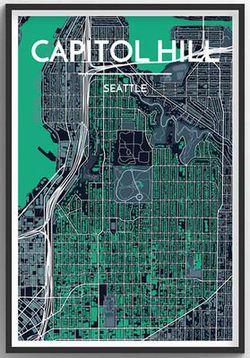 Seattle Neighborhood Map - Capitol Hill