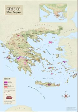 Greece Wine Region Map