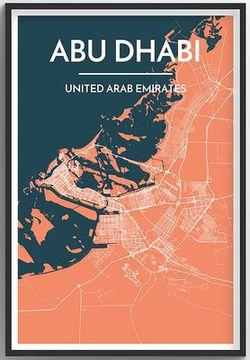 Abu Dhabi Map Print