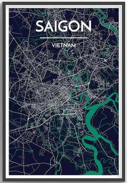 Saigon Map Print by Point Two