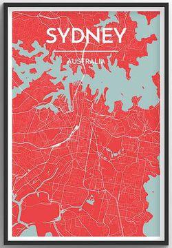 Sydney Map Print by Point Two