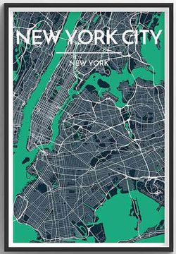 New York City Map Print by Point Two