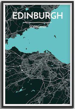 Edinburgh Map Print by Point Two