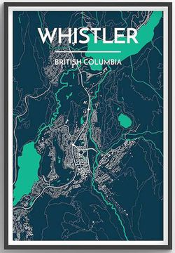 Whistler, B.C. Map Print by Point Two