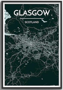 Glasgow Map Print by Point Two