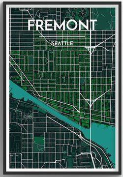 Seattle Neighborhood Map - Fremont