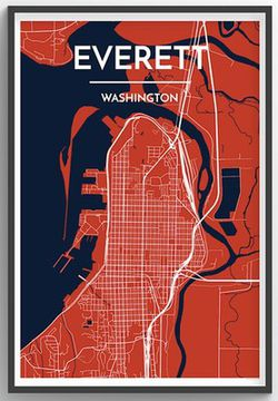 Everett City Map Graphic by Point Two