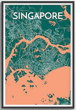 Singapore Map Print by Point Two