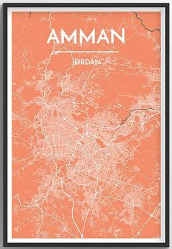 Amman Map Print