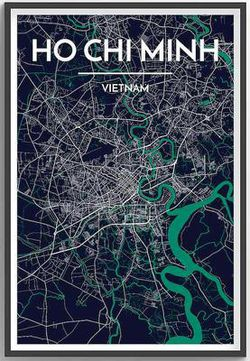 Ho Chi Minh Map Print by Point Two