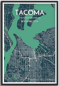 Tacoma Map Print by Point Two