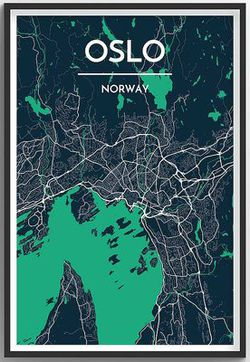 Oslo Map Print by Point Two