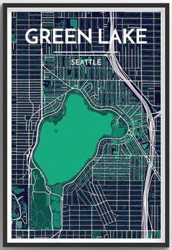 Seattle Neighborhood Map - Green Lake