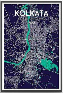 Kolkata Map Print by Point Two