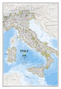 Italy Wall Map by National Geographic