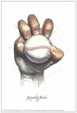 Illustration of a Baseball Pitch: The Knuckleball