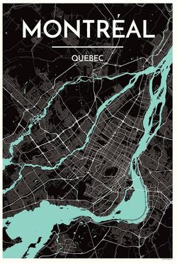 Montreal Map Print by Point Two