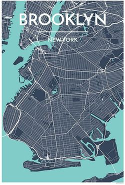 Brooklyn Map Print by Point Two