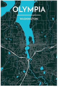 Olympia City Map Graphic by Point Two